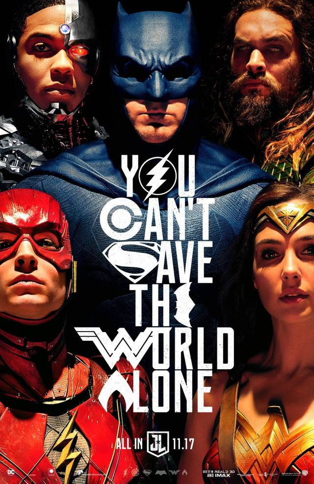 Justice League Teaser Poster USA