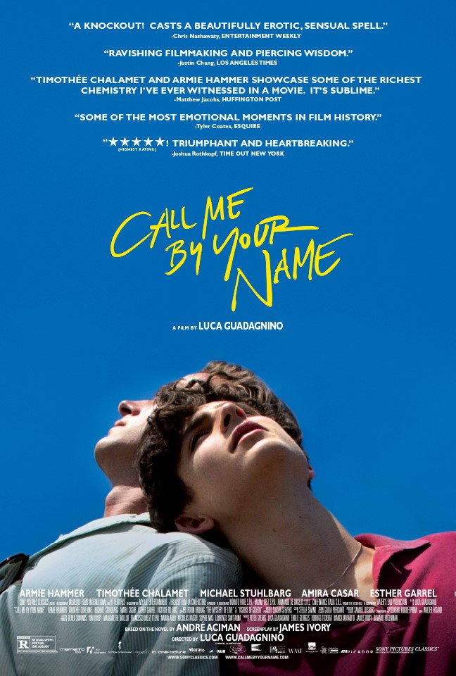 Call Me by Your Name poster 848771297b5c