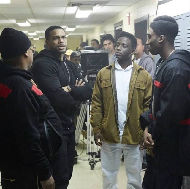 All Eyez on Me Benny Boom Demetrius Shipp Jr foto dal set 2