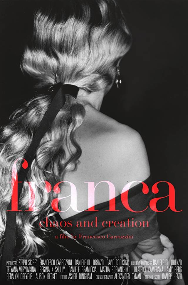 Franca Chaos and Creation Poster Internazionale