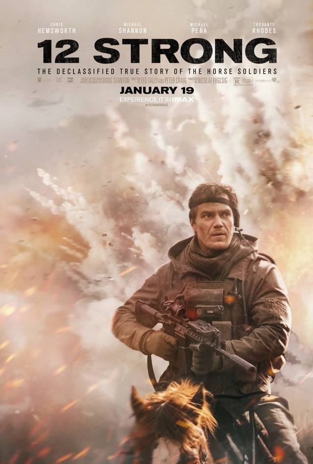 12 Strong Teaser Character Poster USA 1