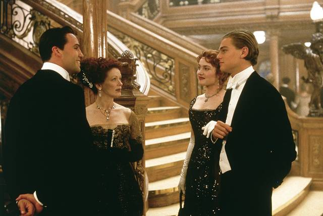 Titanic Leonardo DiCaprio Kate Winslet Billy Zane Frances Fisher foto dal film 4