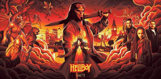 Hellboy Teaser Artwork Poster Orizzontale USA