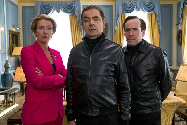 Johnny English Colpisce Ancora_Rowan Atkinson Ben Miller Emma Thompson_foto dal film 2
