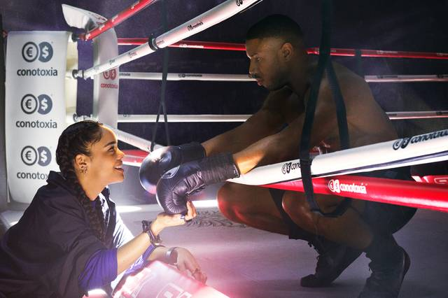 Creed II - Tessa Thompson Michael Bakari Jordan_foto dal film 10