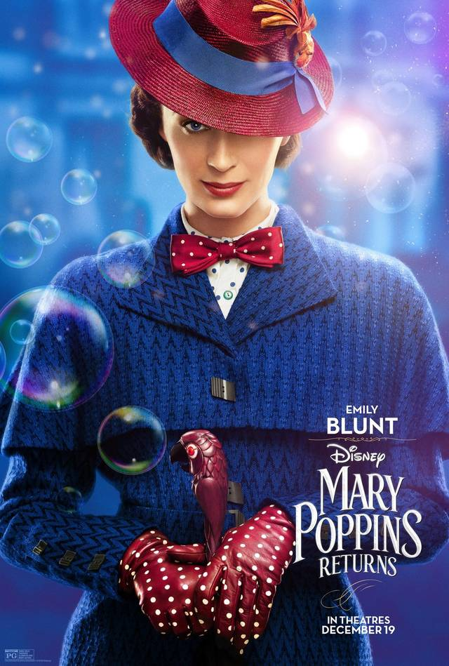 Il Ritorno di Mary Poppins Teaser Character Poster USA 1