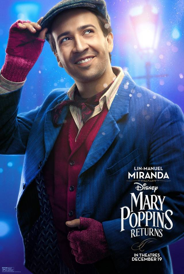 Il Ritorno di Mary Poppins Teaser Character Poster USA 2