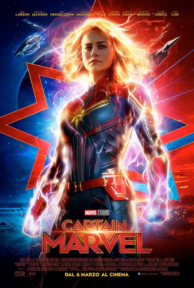 Captain Marvel Poster Italia