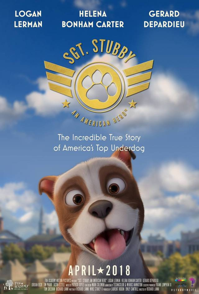 Sgt. Stubby An American Hero Teaser Poster USA 2