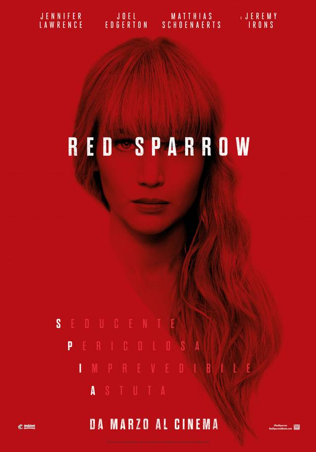 Red Sparrow Teaser Poster Italia