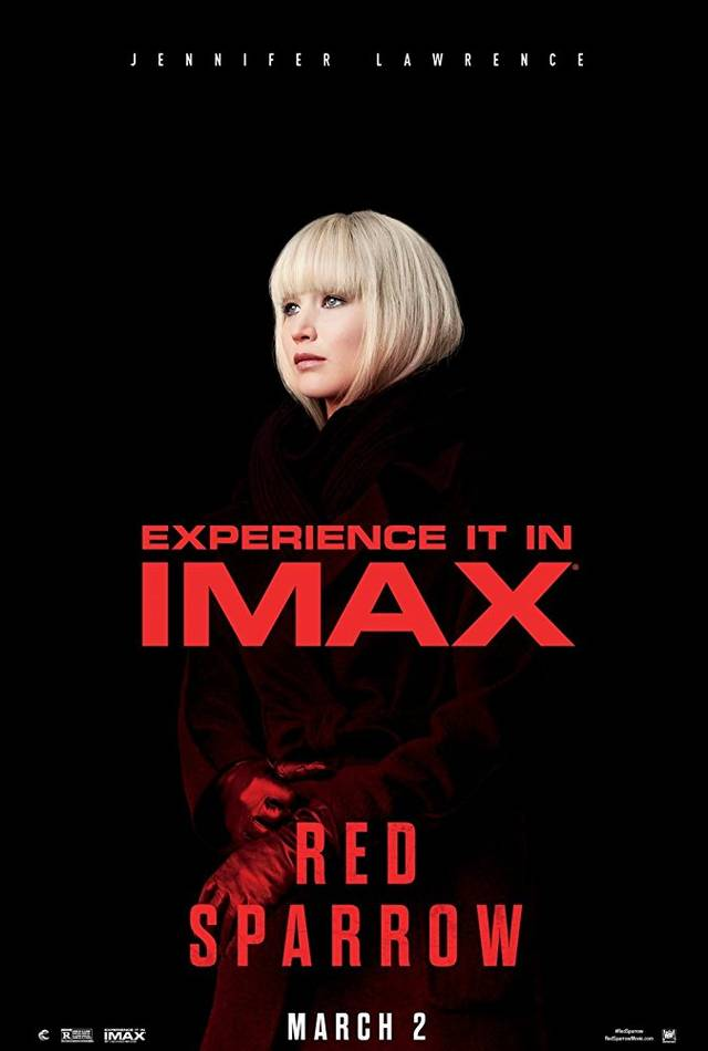 Red Sparrow IMAX Teaser Poster USA