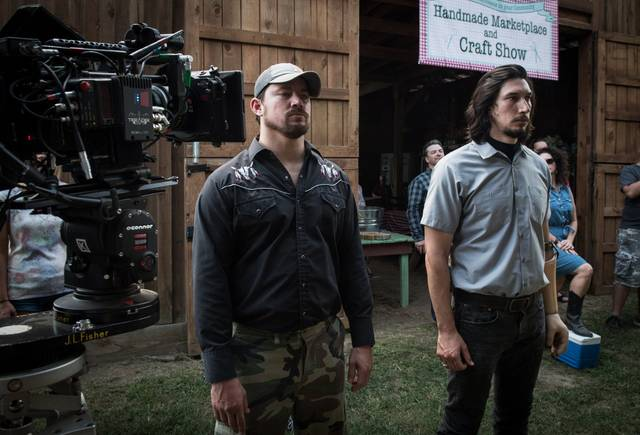 Logan Lucky Channing Tatum Adam Driver foto dal set del film 1
