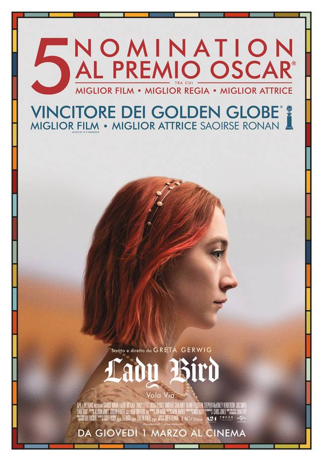 Lady Bird_Oscar Nomination Poster Italia