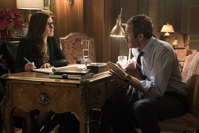Molly's Game Chris O'Dowd Jessica Chastain foto dal film 1