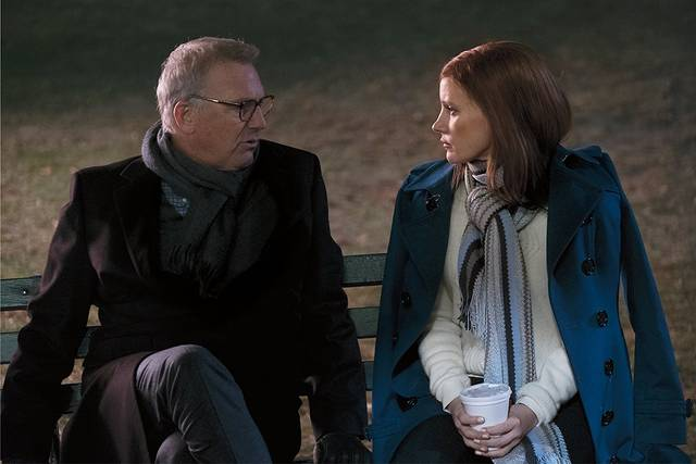 Molly's Game Kevin Costner Jessica Chastain foto dal film 1