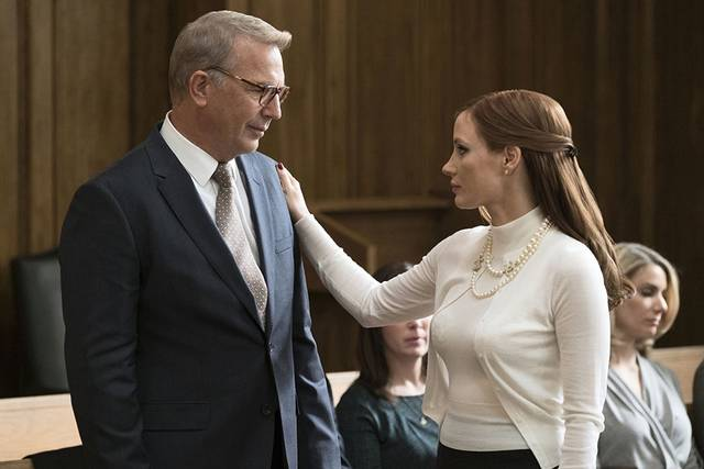 Molly's Game Kevin Costner Jessica Chastain foto dal film 2