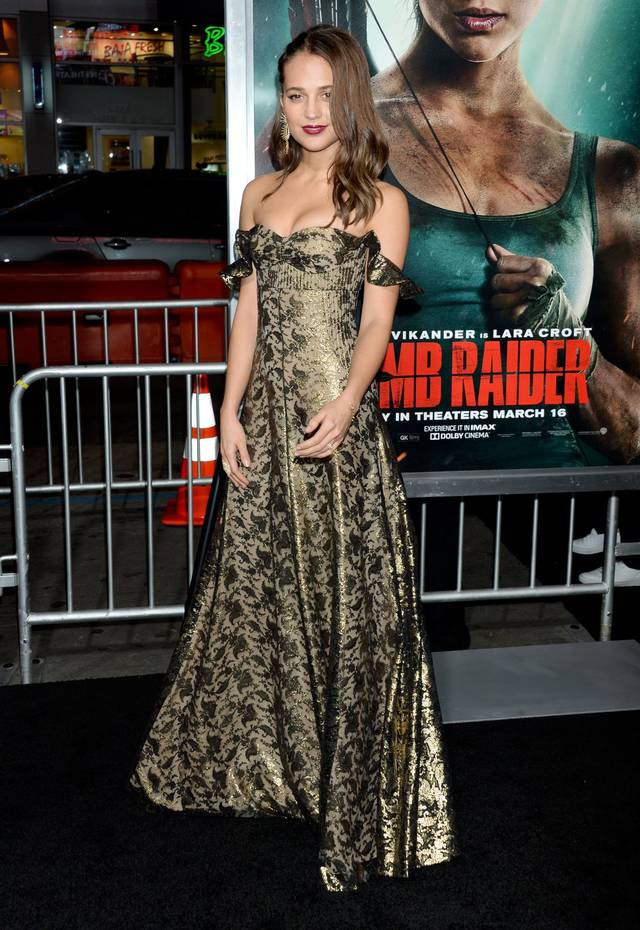 Tomb Raider - Alicia Vikander Premiere Hollywood foto 14