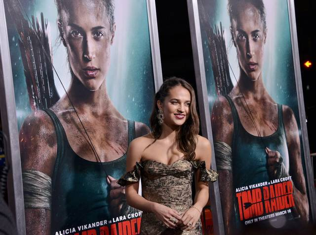 Tomb Raider - Alicia Vikander Premiere Hollywood foto 17