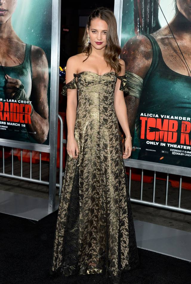 Tomb Raider - Alicia Vikander Premiere Hollywood foto 7