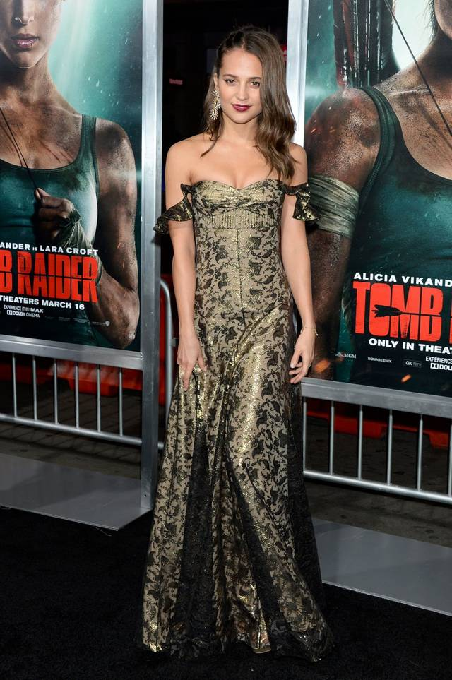 Tomb Raider - Alicia Vikander Premiere Hollywood foto 8
