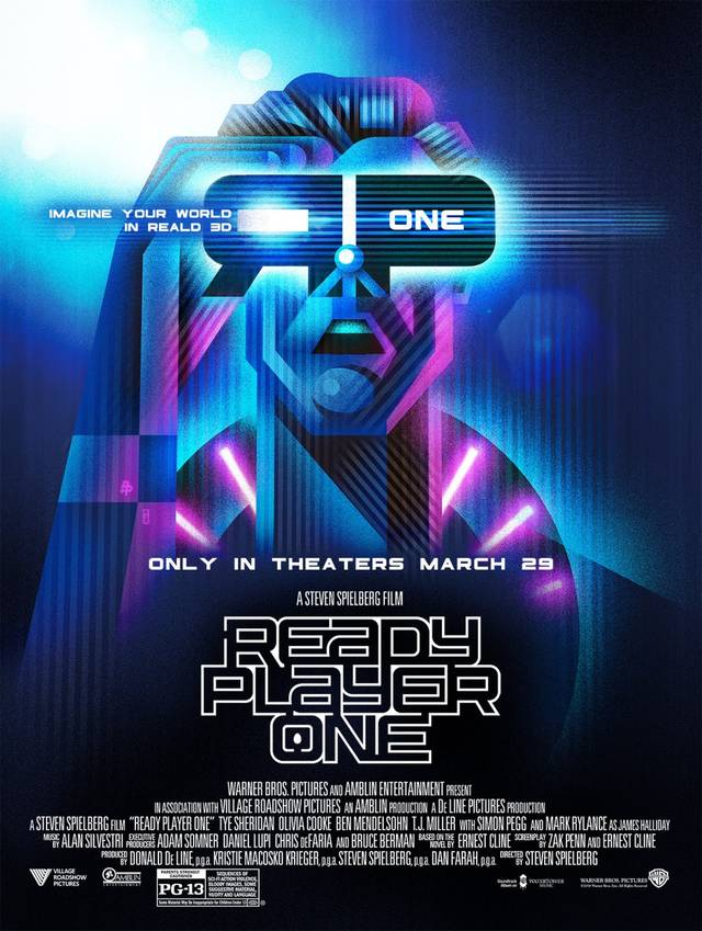 Ready Player One Teaser Artwork Poster USA