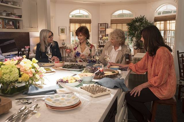 Book Club Candice Bergen Jane Fonda Diane Keaton Mary Steenburgen foto dal film 1