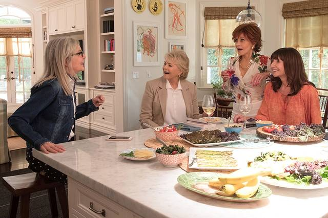 Book Club Candice Bergen Jane Fonda Diane Keaton Mary Steenburgen foto dal film 2