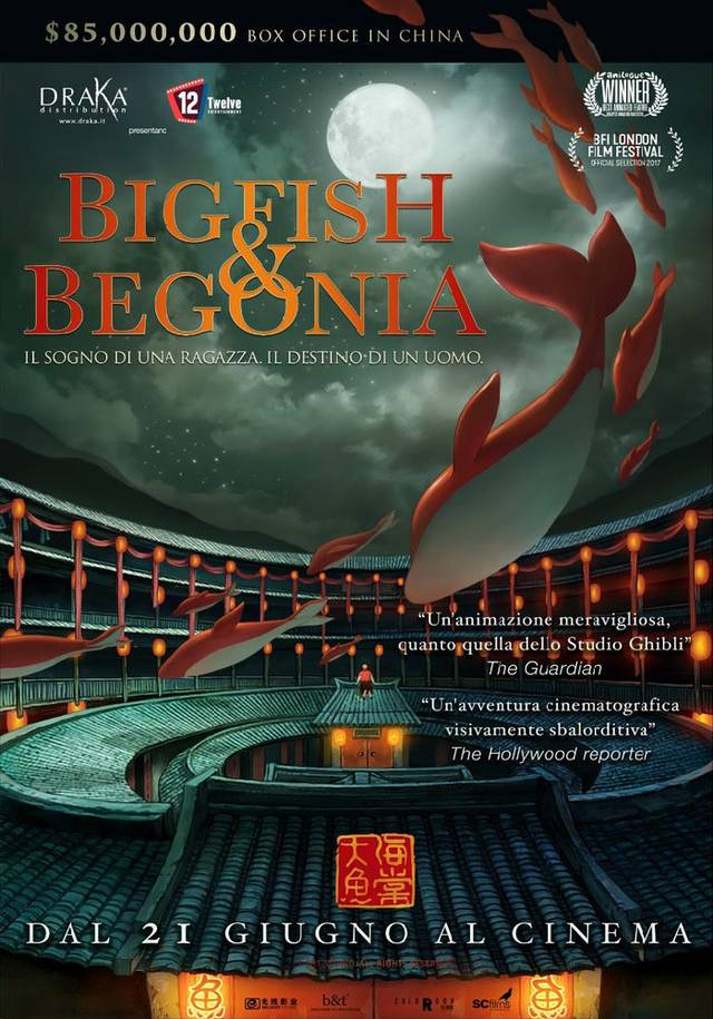 Big Fish & Begonia Poster Italia