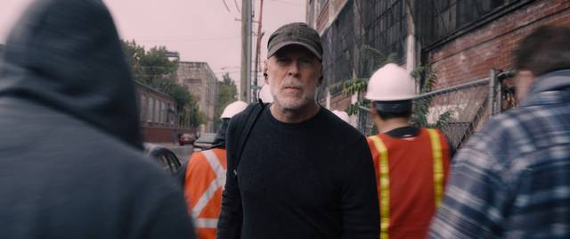 Glass Bruce Willis foto dal film 1