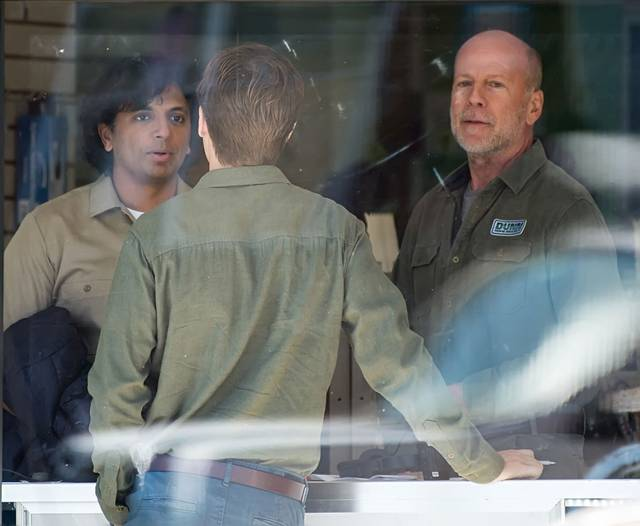 Glass Bruce Willis M. Night Shyamalan foto dal set del film 2