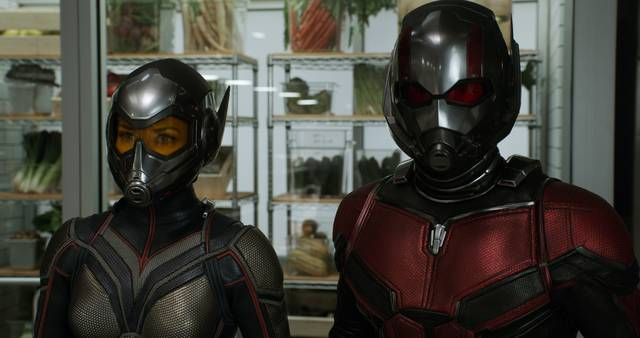 Ant-Man and the Wasp Paul Rudd Evangeline Lilly foto dal film 2