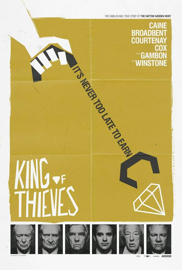 King of Thieves Teaser Poster UK 2