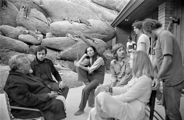 The Other Side of the Wind Orson Welles sul set foto 1