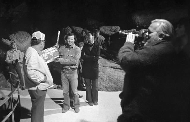 The Other Side of the Wind Orson Welles sul set foto 3