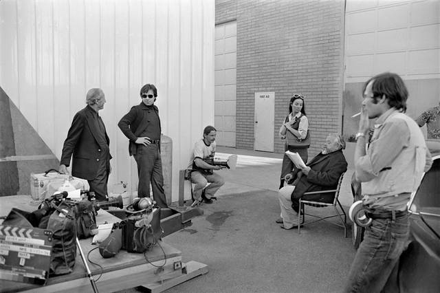 The Other Side of the Wind Orson Welles sul set foto 4