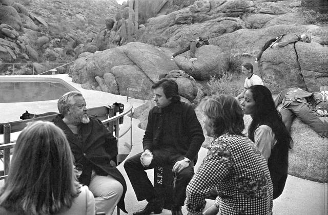 The Other Side of the Wind Orson Welles sul set foto 5