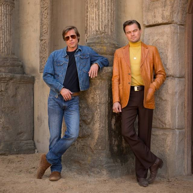 Once Upon a Time in Hollywood Brad Pitt Leonardo DiCaprio First look