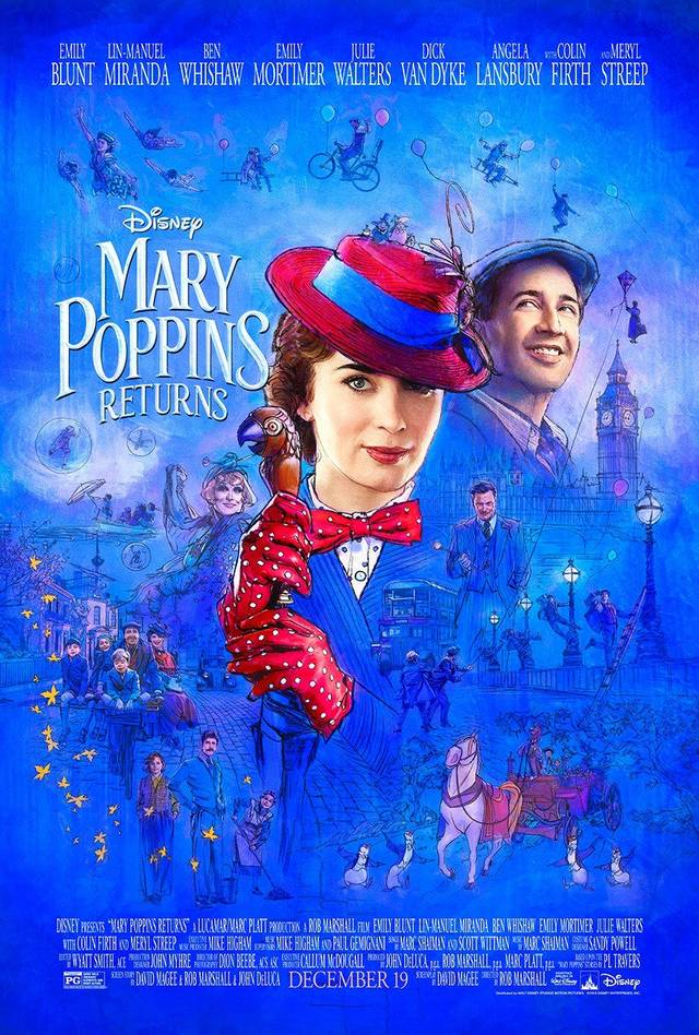 Il Ritorno di Mary Poppins Artwork Poster USA