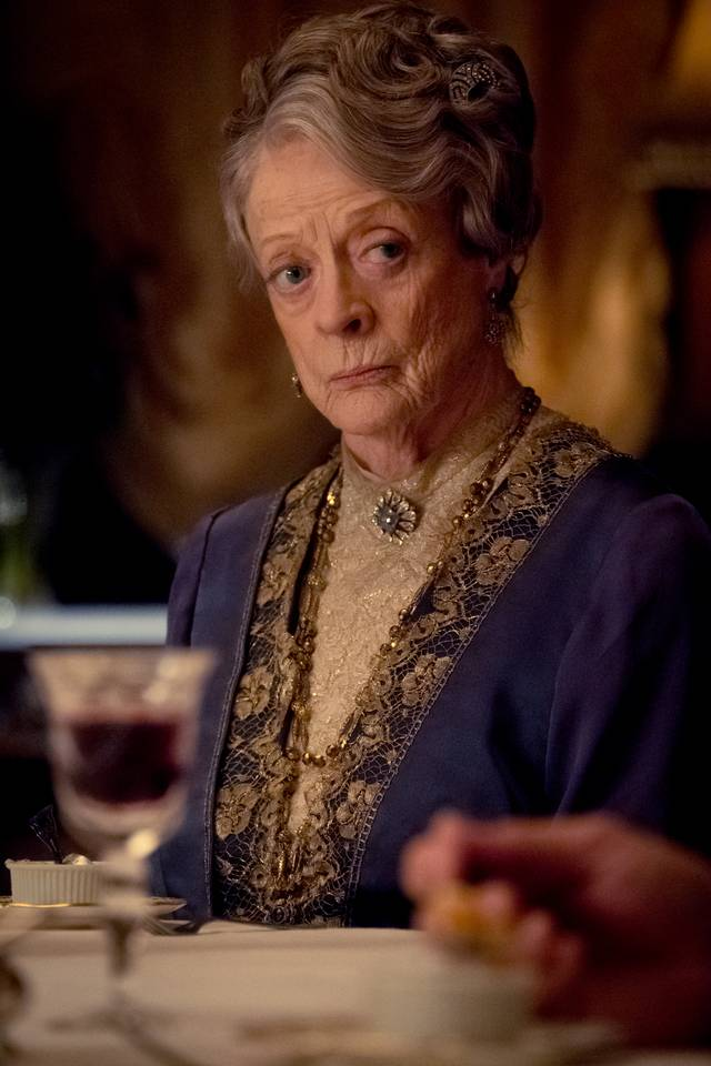 Downton Abbey Maggie Smith foto dal film 1