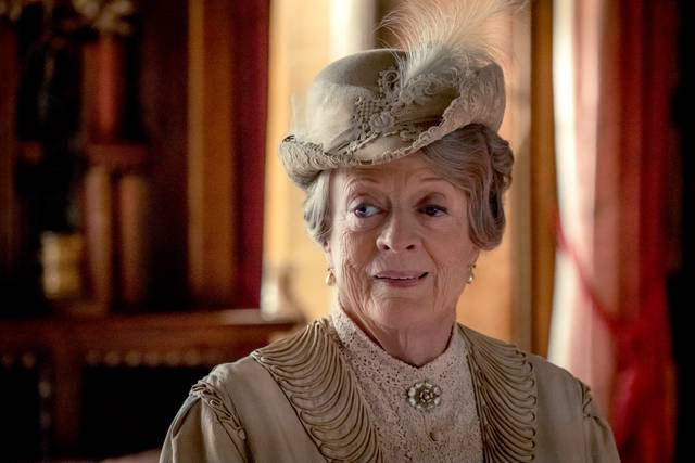Downton Abbey Maggie Smith foto dal film 3