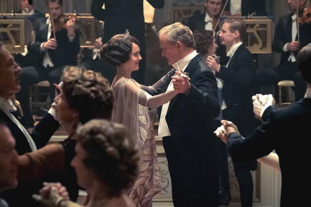 Downton Abbey Michelle Dockery Hugh Bonneville foto dal film 2