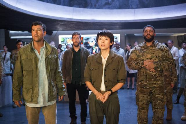 Godzilla II King of the Monsters_Kyle Chandler Thomas Middleditch Ziyi Zhang_foto dal film 11