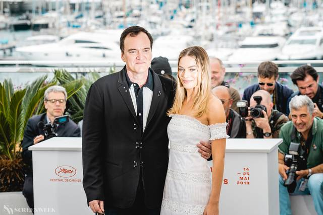 Festival di Cannes_Photocall C'era una volta...a Hollywood_Quentin Tarantino Margot Robbie foto 1