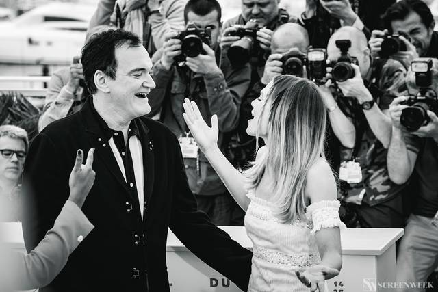 Festival di Cannes_Photocall C'era una volta...a Hollywood_Quentin Tarantino Margot Robbie foto 2
