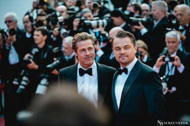 Festival di Cannes_Red Carpet C'era una volta...a Hollywood_Brad Pitt Leonardo DiCaprio foto 1