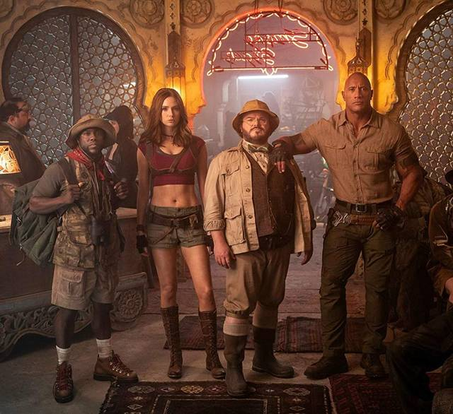 Jumanji - The Next Level Jack Black Kevin Hart Dwayne Johnson Karen Gillan foto dal film 2