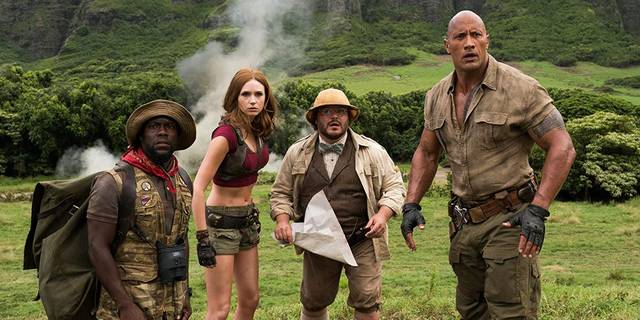 Jumanji - The Next Level Jack Black Kevin Hart Dwayne Johnson Karen Gillan foto dal film 3