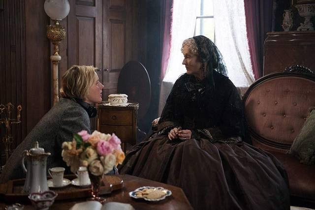 Little Women Meryl Streep e la regista Greta Gerwig foto dal set del film 3