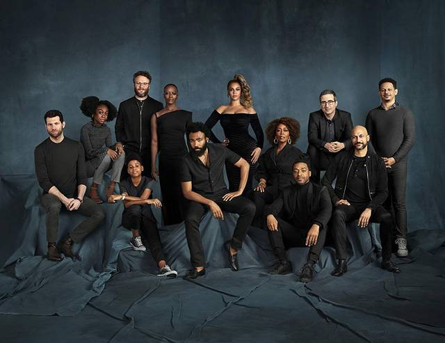 Il Re Leone il cast Alfre Woodard, Chiwetel Ejiofor, Florence Kasumba, Beyoncé, Seth Rogen, John Oliver, Keegan-Michael Key, Donald Glover, Eric André, Billy Eichner, JD McCrary, Shahadi Wright Joseph