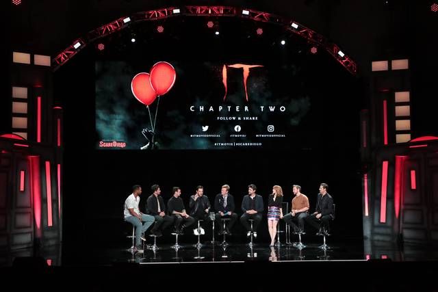 IT CAPITOLO DUE_Bill Hader James McAvoy James Ransone Jay Ryan Jessica Chastain Isaiah Mustafa Andy Bean Taylor Frey_conferenza stampa foto 4